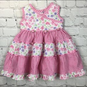 Blueberi boulevard Pink Ruffle Infant Dress Sz 12M